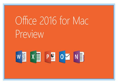 Trung Quốc Home and Business Microsoft Office Professional 2016 Product Key for Mac Genuine license installation nhà cung cấp